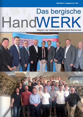 Das Bergische Handwerk - Magazin der Kreishandwerkerschaft Remscheid / 04-2019
